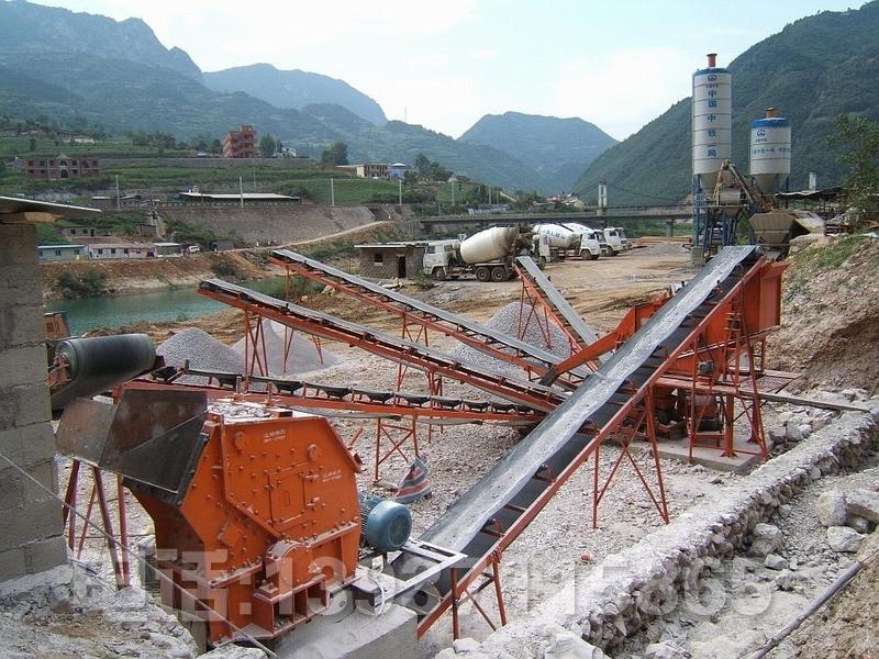 河卵石制砂機生產線